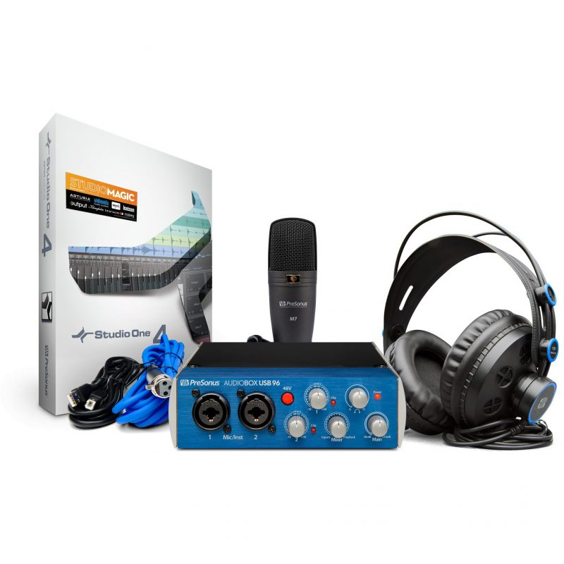 Presonus AudioBox USB 96 Complete Hardware / Software Recording-Podcasting Kit